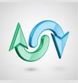 realistic 3d arrows vector image vector image