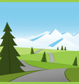 road to snow vector image