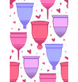 seamless pattern with colorful outline menstrual vector image vector image