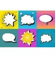 set of comic speech bubbles in pop art vector image