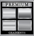 silver gradient backgrounds set vector image vector image