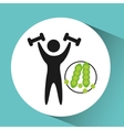 sport man weight lifting nutrition health vector image