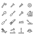 thin line icons - carpentry vector image vector image