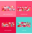 Valentine Day Greeting Set vector image vector image