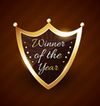 winner of the year golden label design vector image vector image