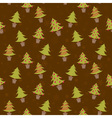 Winter seamless pattern with christmas trees vector image vector image