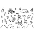 set safari vector image