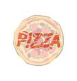 pizza illistration vector image