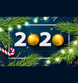 2020 happy new year bannerholiday background with vector image