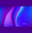 abstract purple neon background dynamic 3d vector image vector image