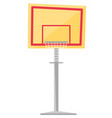 basketball hoop cartoon vector image vector image