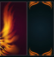 bird fire wings fantasy banner feather burning fly vector image vector image
