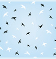 birds in sky flying seamless pattern graphic vector image vector image