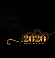 black and golden happy new year premium vector image