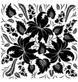Black flowers on a white background vector image