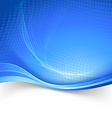 Blue border speed lines abstraction template vector image vector image