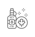 bottle maple syrup line icon vector image vector image