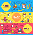 breastfeeding week brochure cards thin line vector image