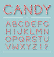 candy cane font - letters vector image