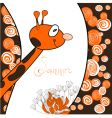 cartoon giraffe card vector image vector image