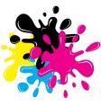 CMYK splatters vector image