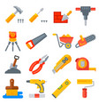 construction tools icons collection vector image vector image