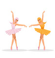 cute women dance ballet vector image