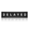 Delayed message vector image vector image