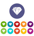 diamond icons set color vector image vector image