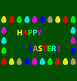 easter egg pattern vector image