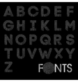 Finger print bold alphabet best font vector image vector image