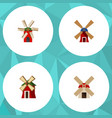 flat icon energy set of propeller wind energy vector image