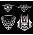 football team crests set with eagles and skulls vector image vector image