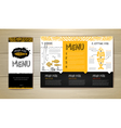 Fried fish restaurant menu concept design vector image vector image