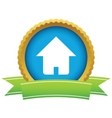 Gold home logo vector image vector image