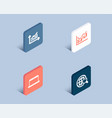 graph financial diagram and laptop icons vector image