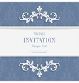 Gray Floral 3d Christmas and Invitation vector image vector image