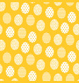 happy easter yellow and white cute egg seamless vector image