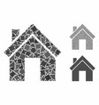 home composition icon tremulant items vector image vector image