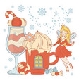 ice cream fairy christmas vector image vector image
