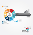 Infographic Template with key business jigsaw vector image vector image