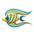 isolated river fish freshwater aquarium vector image vector image
