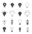 lightbulb and led lamp icons set vector image vector image