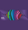 long bright horizontal banner with rainbow lines vector image