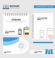 love candles logo calendar template cd cover vector image vector image