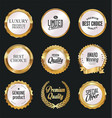 luxury white labels collection 4 vector image vector image