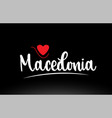 macedonia country text typography logo icon vector image vector image