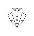 male style line icon concept male style vector image vector image