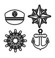 Marine sea icons set vector image vector image