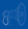 megaphone concept outline vector image